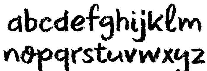 DK Leftover Crayon Regular لخطوط تنزيل صغيرة