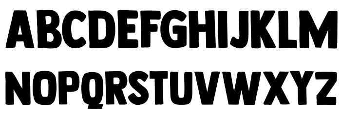 DK Longreach Regular 字体 大写