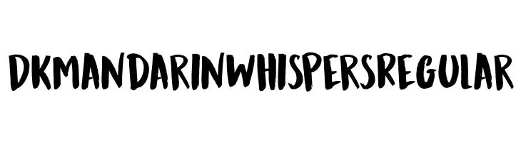 DK Mandarin Whispers Regular  Frei Schriftart Herunterladen