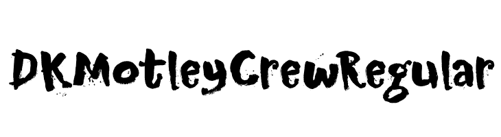DK Motley Crew Regular  Free Fonts Download