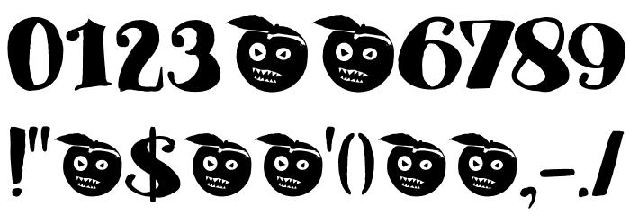 DK Phantom Peach Regular Font OTHER CHARS