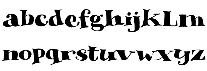 DK Phantom Peach Regular Font LOWERCASE