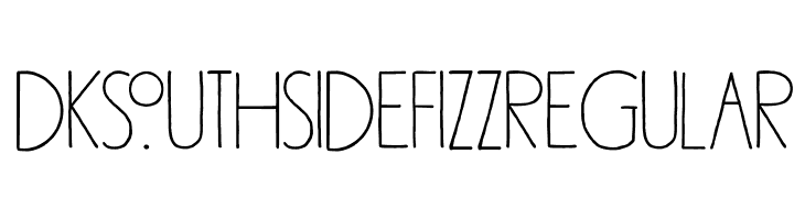 DK Southside Fizz Regular  Free Fonts Download