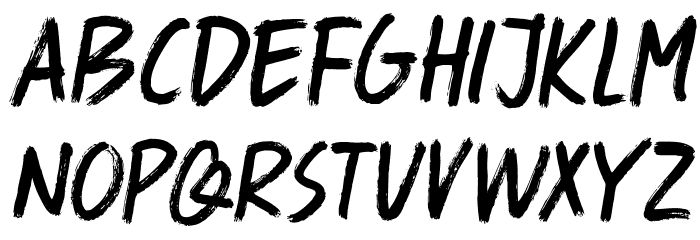 DK Spaghetti And Cheese Regular Font UPPERCASE