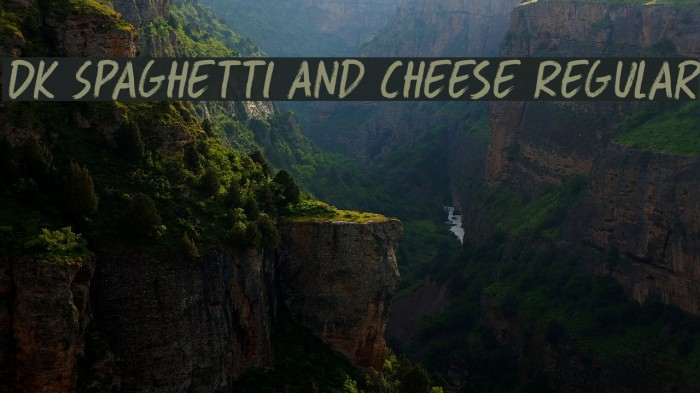 DK Spaghetti And Cheese Regular Font examples