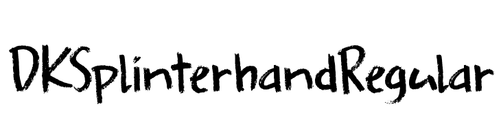 DK Splinterhand Regular  Free Fonts Download