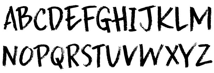 DK Splinterhand Regular Font UPPERCASE
