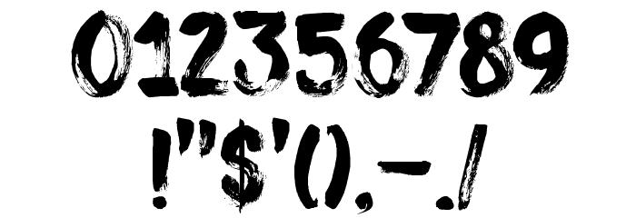 DK Sushi Bar Regular Font OTHER CHARS