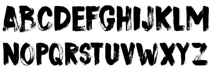 DK Sushi Bar Regular Font UPPERCASE