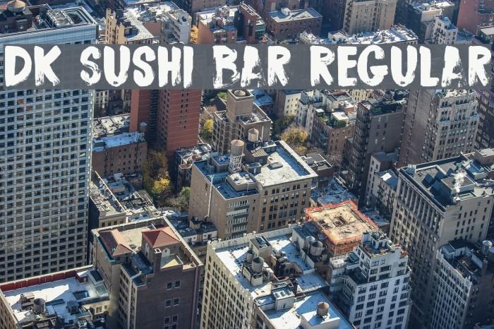 DK Sushi Bar Regular Font examples
