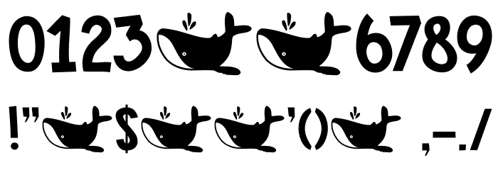 DK Whale Song Regular Font OTHER CHARS