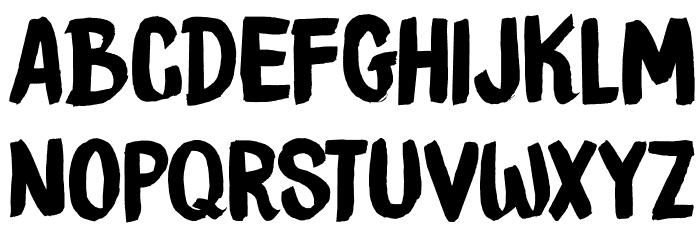 DKBrushCrush Schriftart Groß