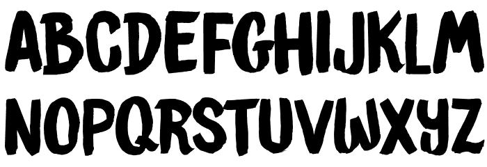 DKBrushCrush Schriftart Kleinbuchstaben