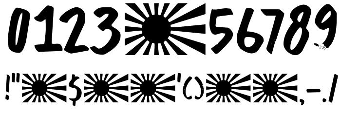 DKBuntaro Schriftart Anderer Schreiben