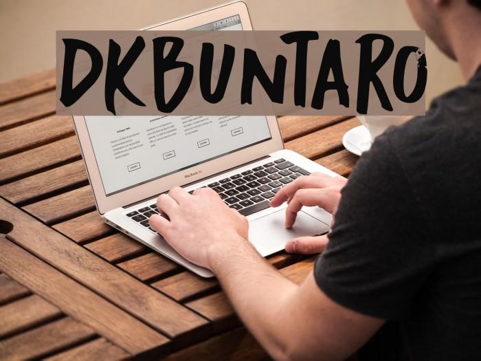 DKBuntaro Schriftart examples