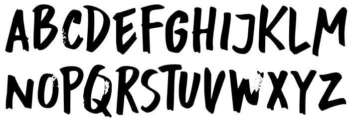 DKBuntaro Schriftart Kleinbuchstaben