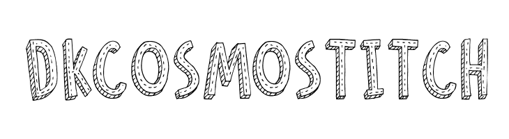 DKCosmoStitch  font caratteri gratis