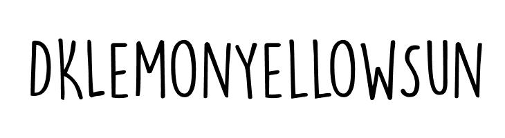 DKLemonYellowSun Font