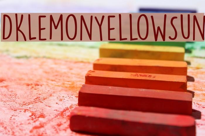 DKLemonYellowSun Font examples