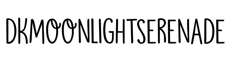 DKMoonlightSerenade  Free Fonts Download