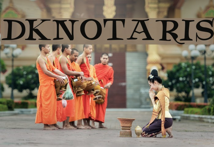 DKNotaris फ़ॉन्ट examples