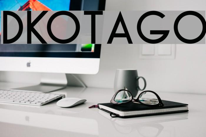 DKOtago 字体 examples