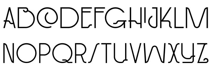 DKPaviljoen Font UPPERCASE