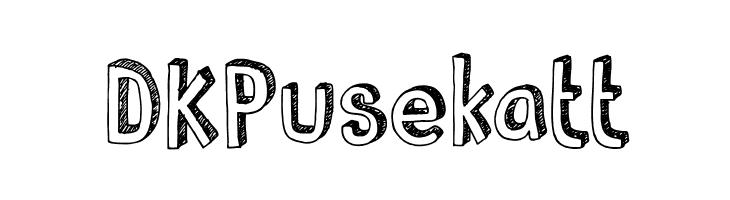 DKPusekatt  Скачать бесплатные шрифты