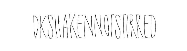 DKShakenNotStirred Font