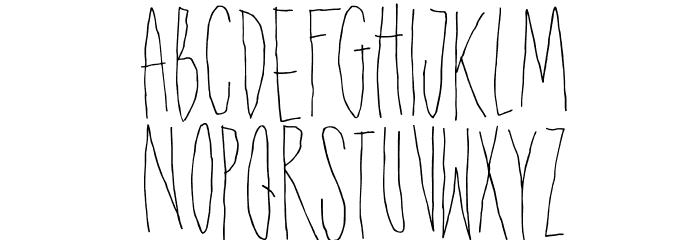 DKShakenNotStirred Font UPPERCASE