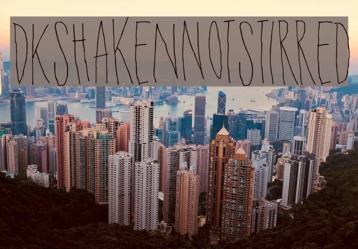 DKShakenNotStirred Font examples