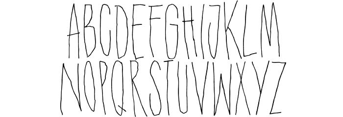 DKShakenNotStirred Font LOWERCASE