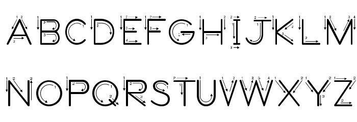 DmoZBPrintArrow Font UPPERCASE
