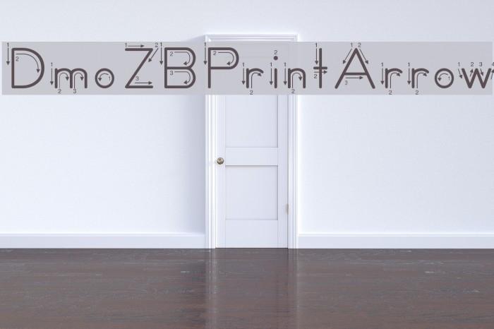 DmoZBPrintArrow Font examples