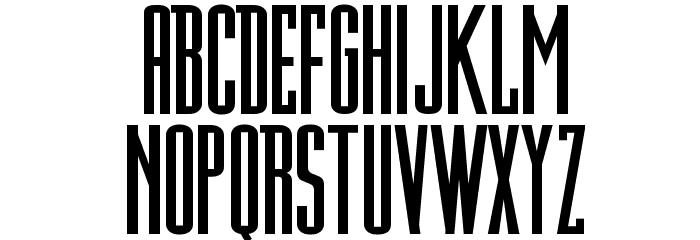 DN Titling Font UPPERCASE