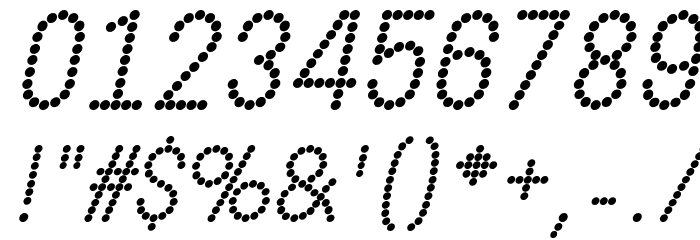 DOTCIRFUL Bold Italic Fonte OUTROS PERSONAGENS