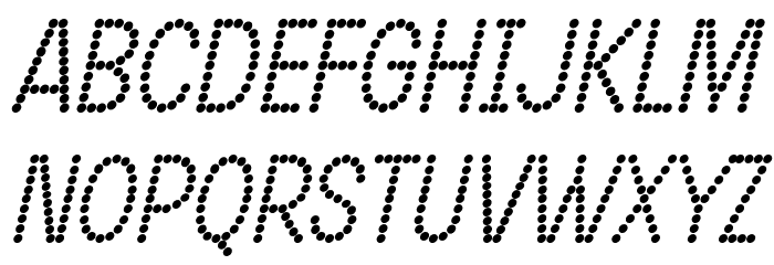 DOTCIRFUL Bold Italic Fonte MAIÚSCULAS