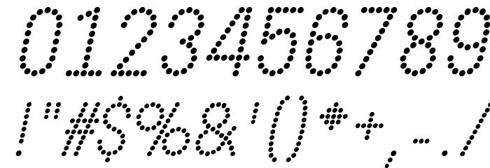 DOTCIRFUL Italic Fonte OUTROS PERSONAGENS