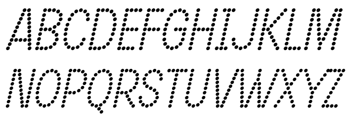 DOTCIRFUL Italic Fonte MAIÚSCULAS