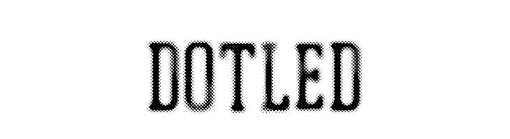 DOTLED  Скачать бесплатные шрифты