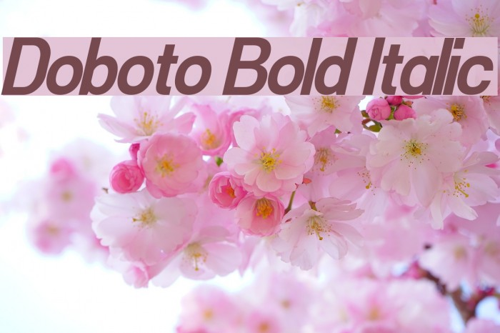 Doboto Bold Italic Font Comments - free fonts download