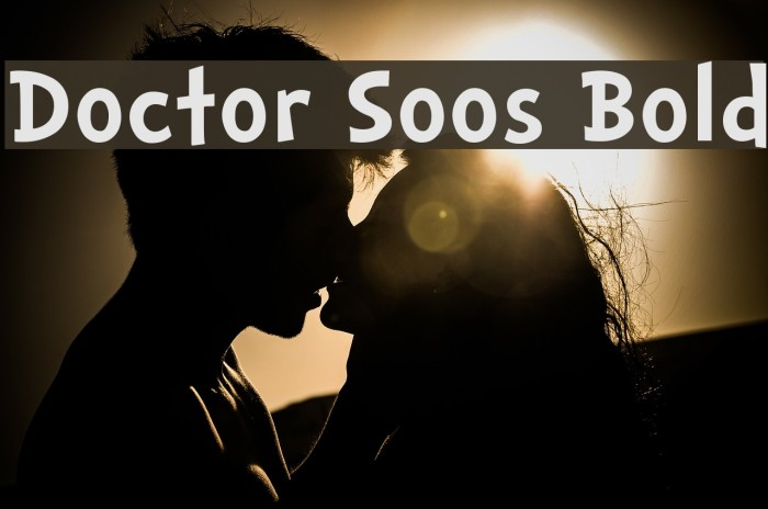 Doctor Soos Bold Fonte examples