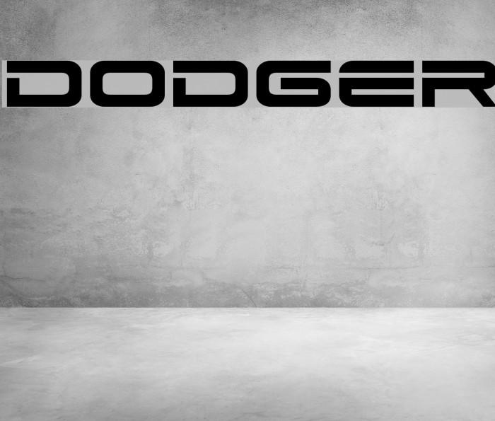 Dodger फ़ॉन्ट examples