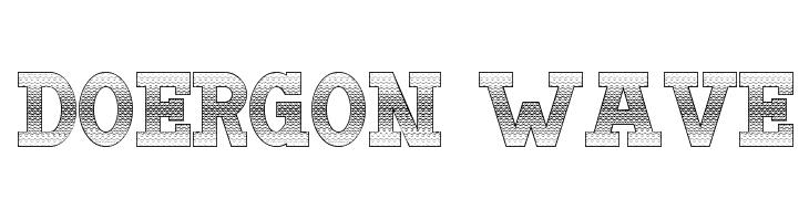 Doergon Wave  Free Fonts Download