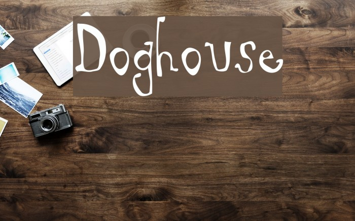 Doghouse Font examples