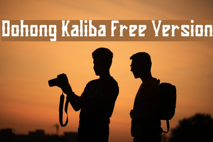 Dohong Kaliba Free Version Шрифта examples