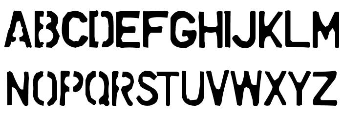 Dollar Store Stencil Font UPPERCASE