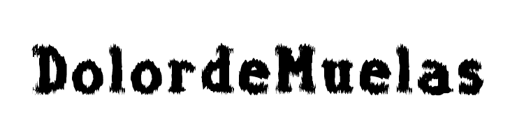 Dolor de Muelas  Frei Schriftart Herunterladen