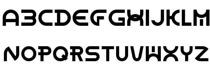 Dome Circle Font UPPERCASE