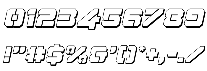 Domino Jack 3D Italic Italic フォント その他の文字